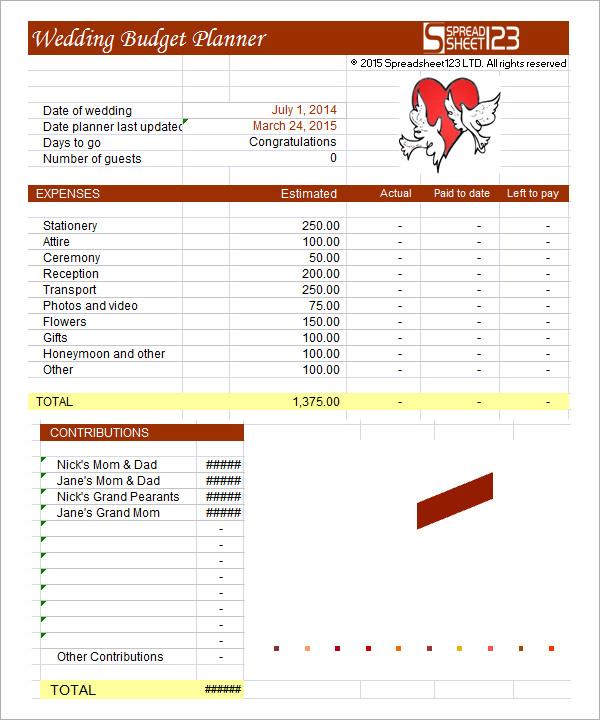 wedding budget template1