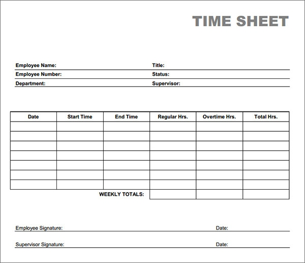 monthly timesheet template .