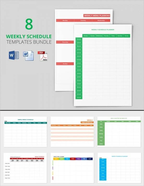 weekly-schedule-bundle