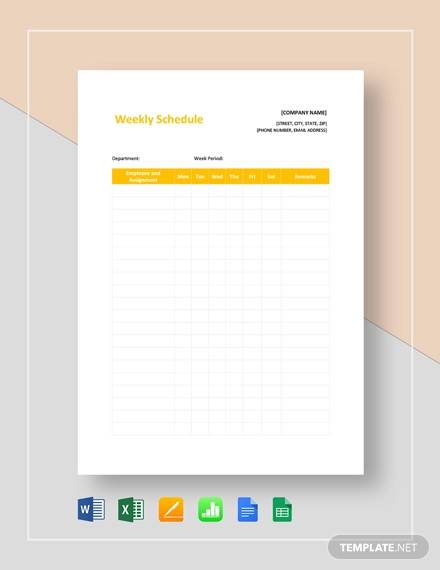 weekly schedule template1
