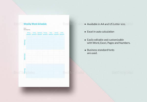 weekly work schedule template1