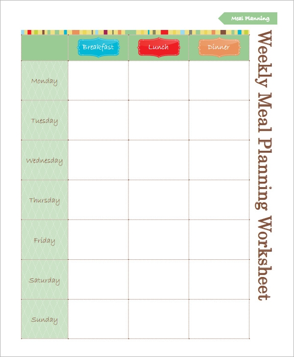 Meal Planning Template   17 Download Free Documents in PDF Excel UPlWTNwE