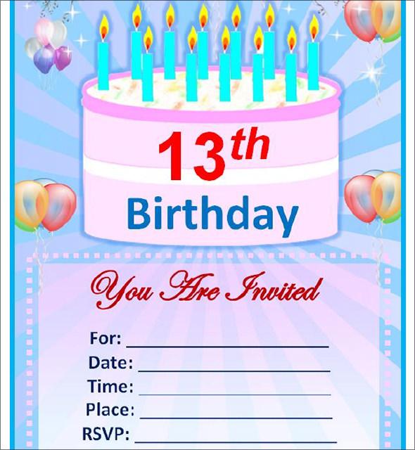 Sample Birthday Invitation Template