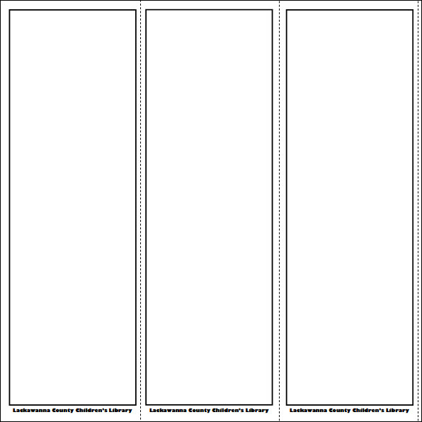 Bookmark template 13 download in pdf psd word for Blank book template for kids