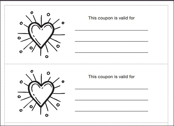 Blank Coupon  Lunch Voucher Template