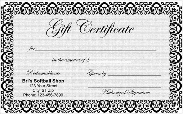 There are various types of gift certificates depending on the occasion ...