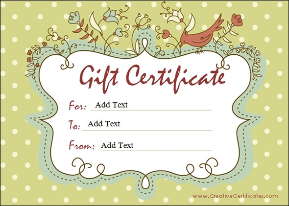 Blank Gift Certificate Template Download For Word Doc Download For ...