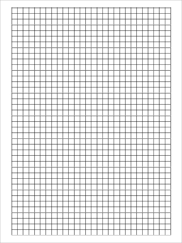 Blank Graph Paper Template  Graph Paper Word Document