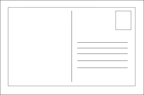 Good Blank Postcard Template