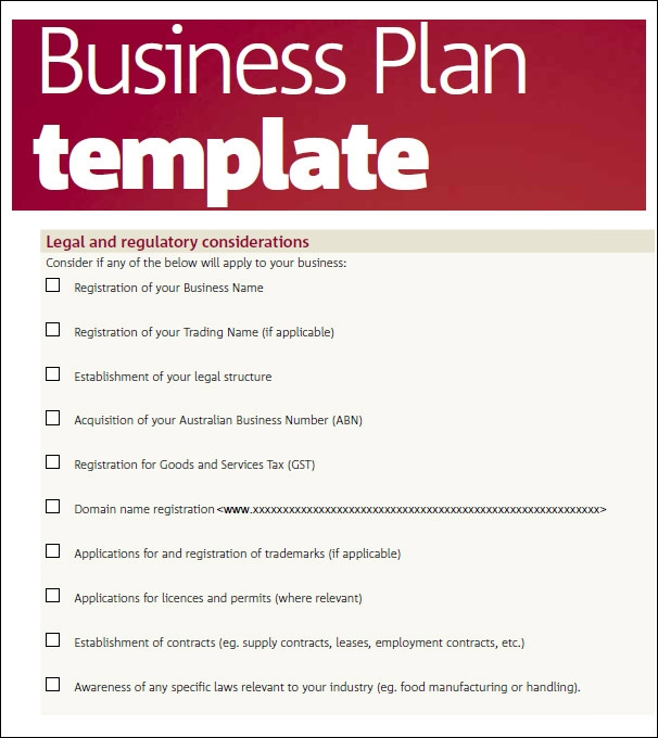 Bussines Plan Templates Sample Templates MTxJrBqq