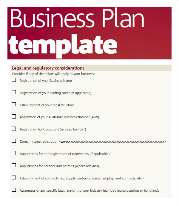 Bussines Plan Template   Download Free Documents In Pdf Word