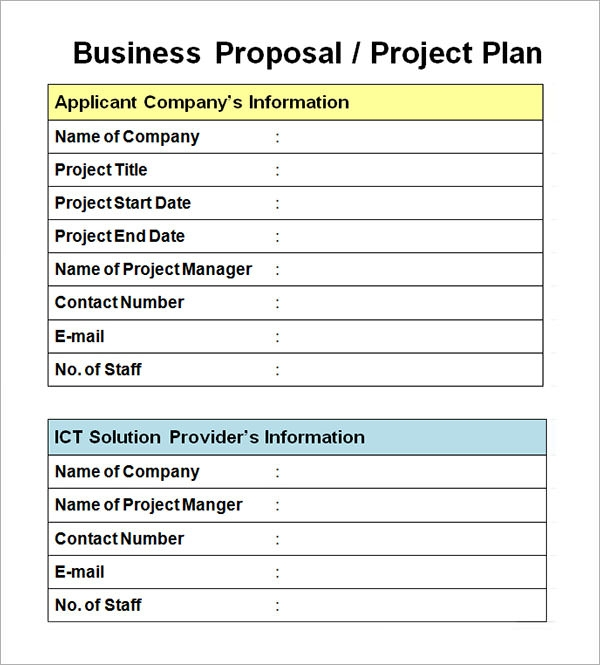 Doc736952 Business Proposal Format Doc Proposal Document – Project Proposal Format Template