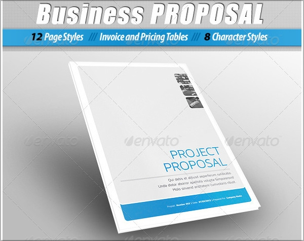 Free Business Proposal Template Downloads Business Blue Triangular