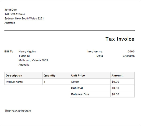 bussiness invoice template2