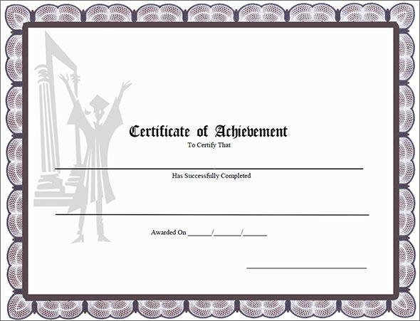 40+ Best Certificate of Achievement Templates in ...