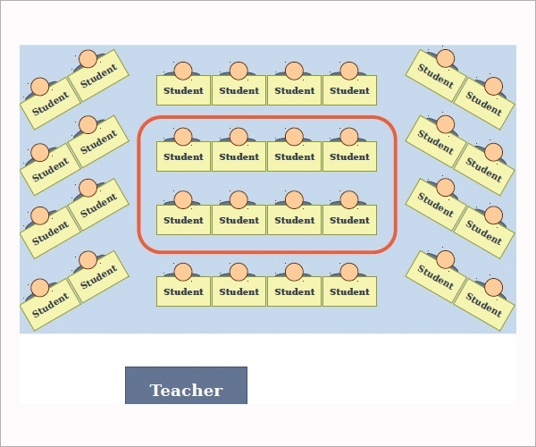 Sample Seating Chart Template 6 Free Documents in PDF Excel – Classroom Seating Arrangement Templates