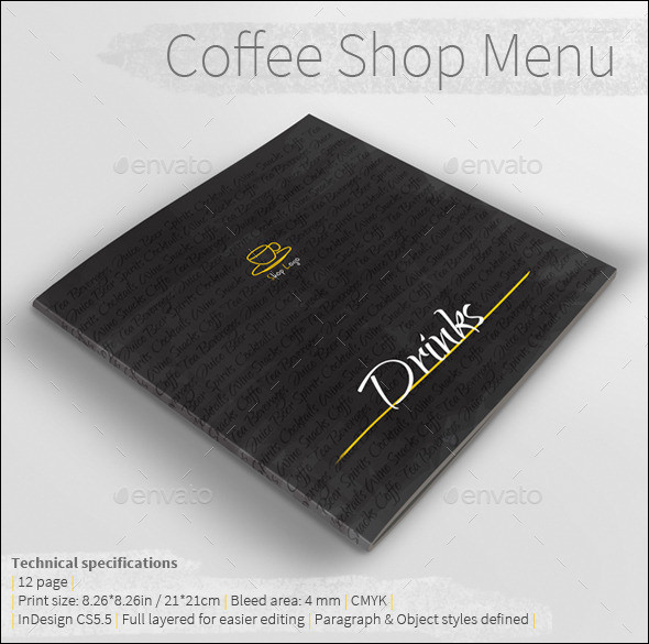 coffe shop menu