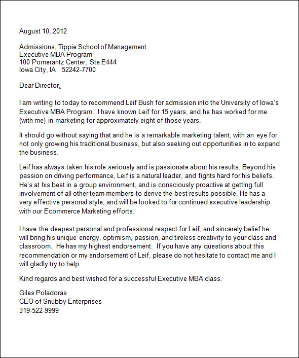 professional college admission writing recommendation letter
