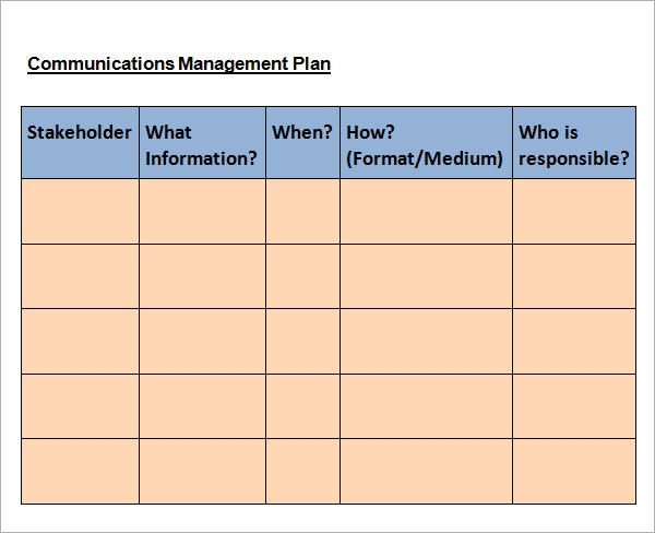communication plan sample1