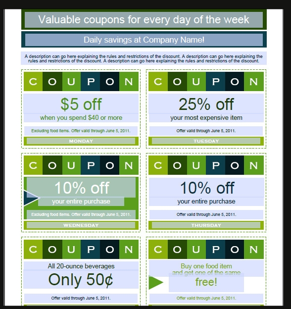 Sample Coupon Template  Business Coupon Template