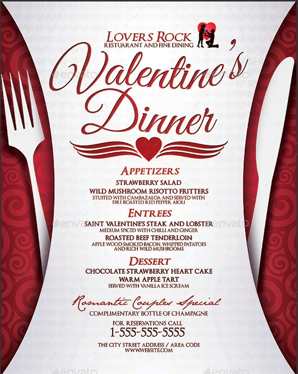 Dinner party menu template 16 download documents in psd for Valentines dinner party menu
