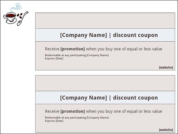 microsoft word coupon template – Microsoft Word Coupon Template