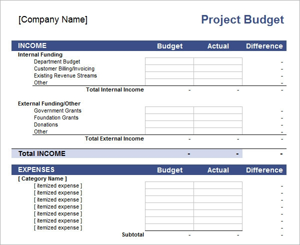 Printables Project Budget Worksheet 10 excel budget templates project template