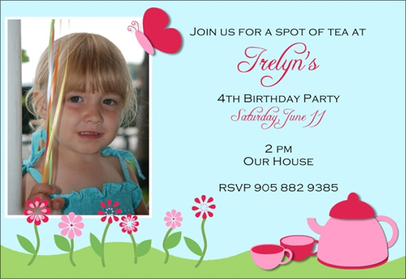 Birthday Invitation Template In PSD - Birthday invitation templates to download free
