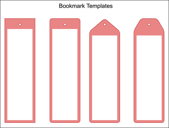 14 beautiful printable bookmark templates to free download for Book marker template