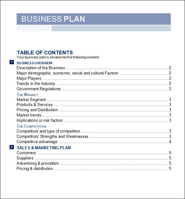 Free sample business plan template bussines plan templates sample templates flashek