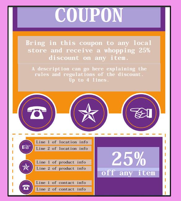 coupon template free word - Black.dgfitness.co