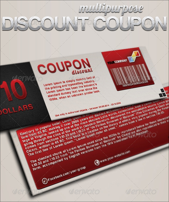 Free Printable Coupon Templates  Discount Coupons Templates