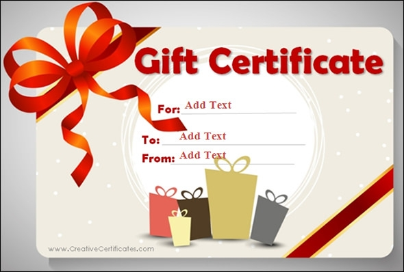 Gift Certificate Template - 29+ Download PDF, PSD, Word, Illustration ...