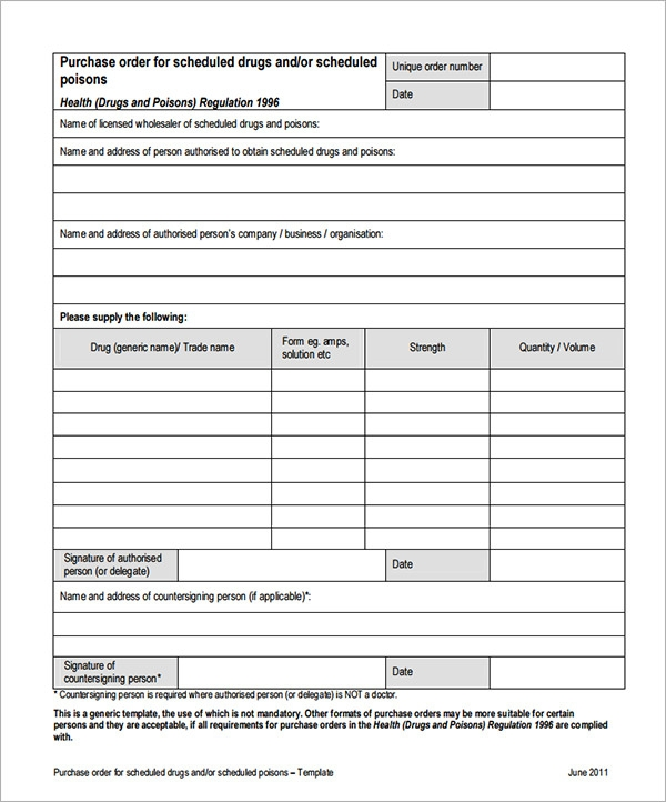 Purchase Order Template   Download Free Documents In Pdf  Word