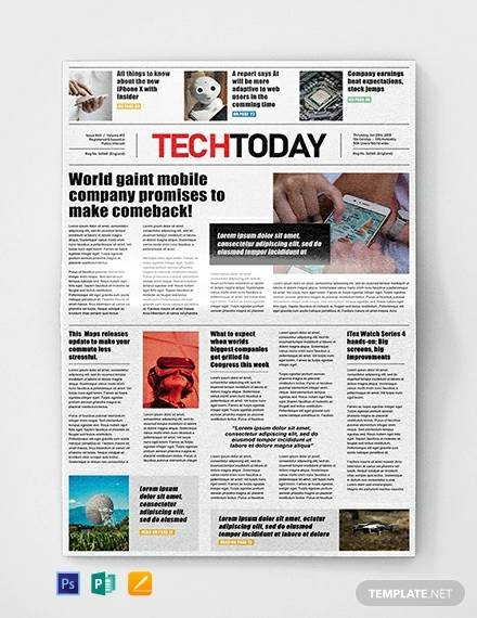 Free 50 Amazing Newspaper Templates In Pdf Ppt Ms Word Psd
