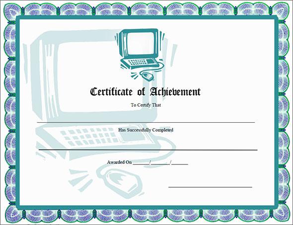 get certificates of achievement
