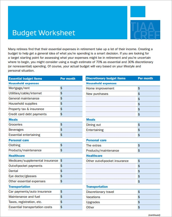 Home Budget Worksheet. Home Budget List Very Necessary, Whether