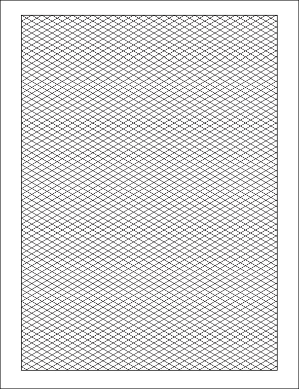13 free printable isometric graph paper for download