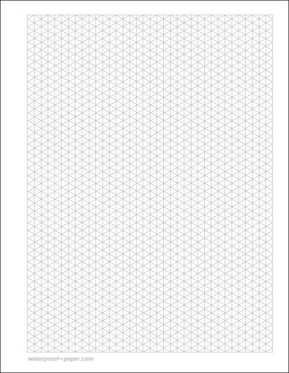 Isometric Graph Paper   Download Free Documents In