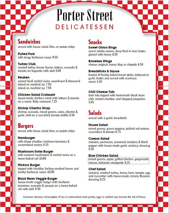 10 printable food menu templates sample templates