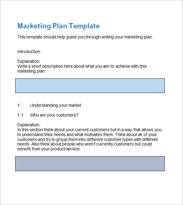 Sample marketing plan template 13 free documents in for Publicity plan template