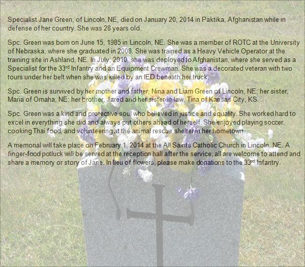 sample obituary funeral program templates .