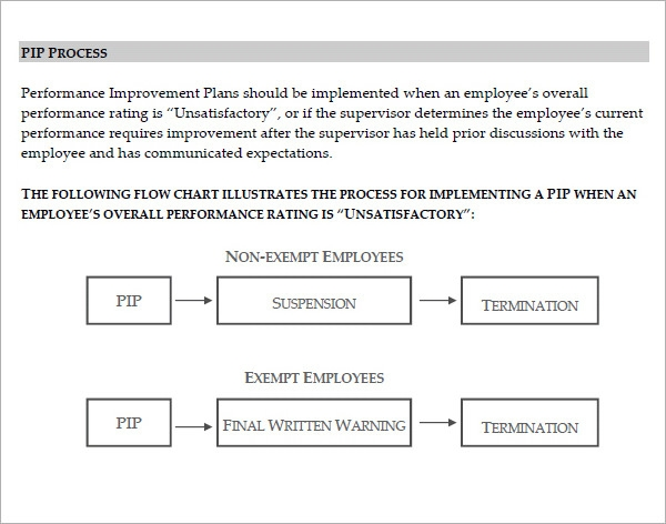 performance improvement plan samples