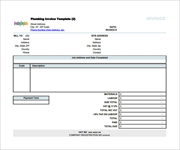 Sample Contractor Invoice Templates 14 Free Documents in Word – General Invoice Template