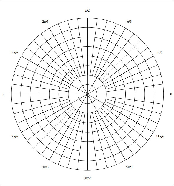 14 printable polar graph paper to download for free