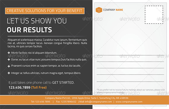 Postcard Template - 25+ Download Documents in PSD, PDF, Word