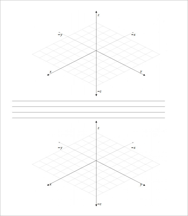 free 7  3d graph paper templates in pdf