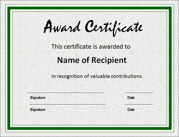 award certificate template 29 download in pdf word