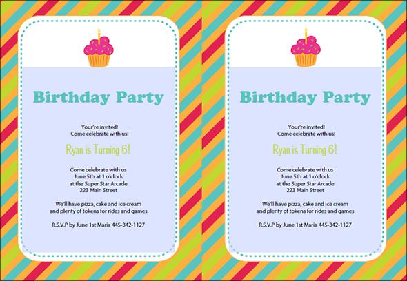 printable colored stripes birthday