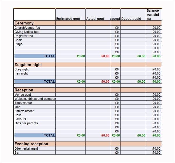 Downloadable Excel Budget Templates  NinjaTurtletechrepairsCo